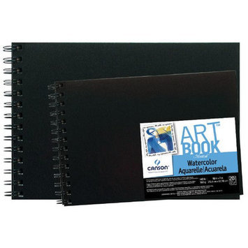 Canson C100510439 ArtBook 10 x 7 Field Watercolor Wirebound Book