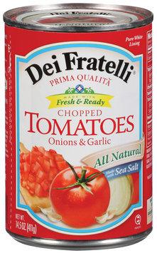 Dei Fratelli Chopped W/Onions & Garlic Tomatoes 14.5 Oz Can