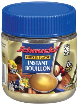 Schnucks Instant Chicken Flavor Bouillon 3.75 Oz Jar
