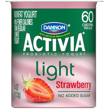 Dannon® Activia® Light Strawberry Probiotics Nonfat Yogurt 4 oz. Cup