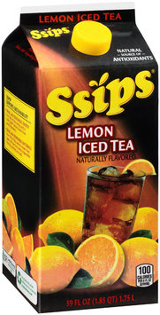 Ssips® Lemon Iced Tea 59 fl. oz. Carton