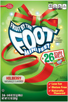 Betty Crocker® Fruit by the Foot™ Mini Feet™ Holiberry Fruit Flavored Snacks 26-0.45 oz. Rolls