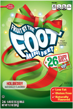 Fruit By The Foot Mini Feet Holiberry