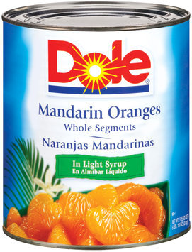 Dole Canned Fruit Whole Segments In Light Syrup Mandarin Oranges 106 Oz Can
