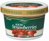 Haggen Sliced W/Sugar Strawberries 16 Oz Tub