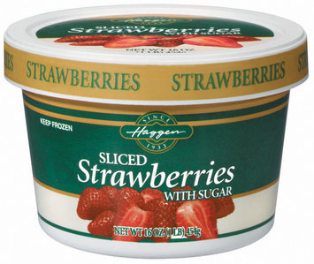 Haggen Sliced W/Sugar Strawberries 16 Oz Tub