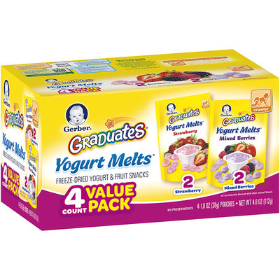 Gerber® Graduates® Strawberry/Mixed Berries Yogurt Melts® Variety Pack 4-1.0 oz. Pouches