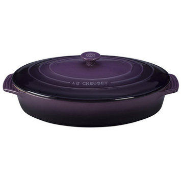Le Creuset Stoneware 3.75-Qt. Covered Oval Casserole Color: Cassis