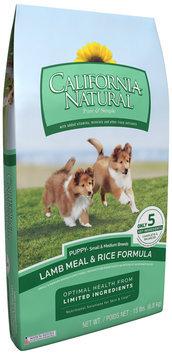 California Natural® Lamb Meal & Rice Formula Small & Medium Breed Puppy Food