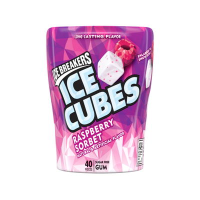 ICE BREAKERS ICE CUBES RASPBERRY SORBET GUM