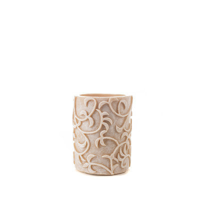 Theamazingflamelesscandle Carved Series Flameless Pillar Candle Size: 4