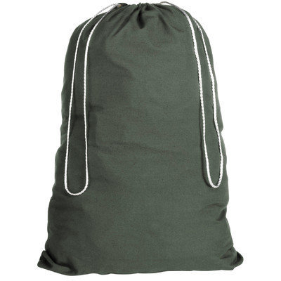 Whitmor 6353-1191-GRN Cotton Laundry Bag-Duffel Green