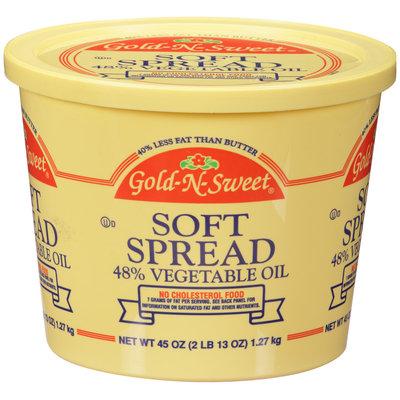 Gold-N-Sweet® Soft Spread 48% Vegetable Oil 45 oz. Tub