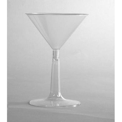 WNA Comet Plastic Cups 6 Oz Cold Plastic Martini Glass, Clear, Pack