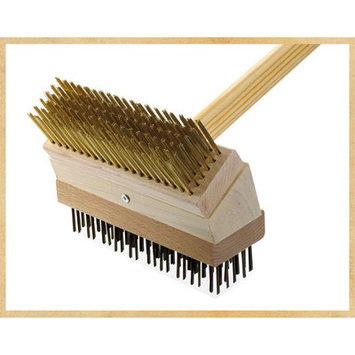 Texas Brush Junior Grill Brush Brush: Brass/Black Steel