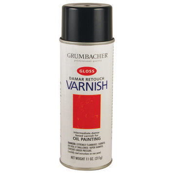 Grumbacher Damar Retouch Varnish Spray 11 oz.