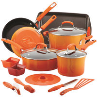 Rachael Ray 16-pc. Nonstick Aluminum Cookware Set (Orange)
