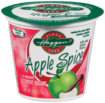 Haggen Lowfat Apple Spice Yogurt 6 Oz Cup
