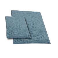 Textile Decor Castle 2 Piece 100% Cotton Echo Spray Latex Bath Rug Set, 24 H X 17 W and 34 H X 21 W