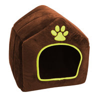 Purrrfect Life Plush House-shaped Pet Bed