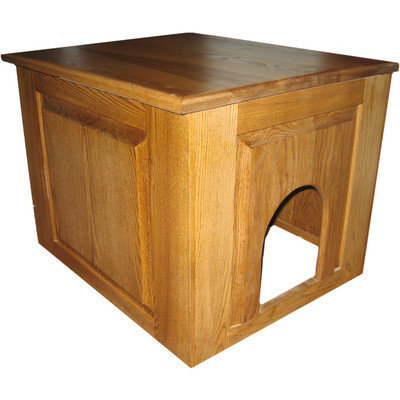 Classic Pet Beds Raised Panel Litter Box Concealment Cabinet Finish: Cherry, Side Opening: Left