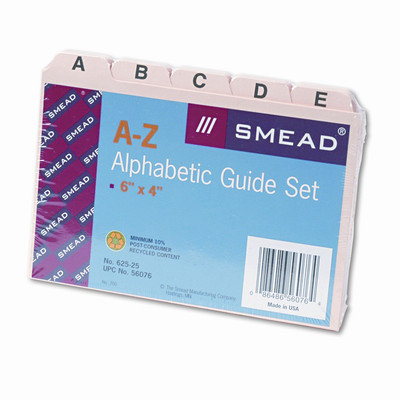 Smead Card Guides, Alpha, 1/5 Tab