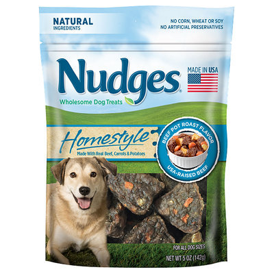 Nudges® Homestyle Beef Pot Roast Flavor Wholesome Dog Treats 5 oz. Bag