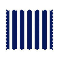 Stwd Primary Stripe Woven Fabric by the Yard Color: Navy