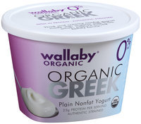 Wallaby® Organic Greek Plain Nonfat Yogurt