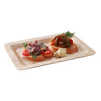 Restaurantware Rectangular Bamboo Leaf Plate (100 Count)