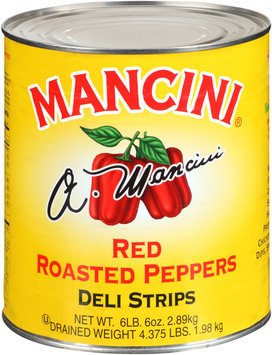 Mancini® Deli Strips Red Roasted Peppers 102 oz. Can