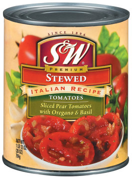 S&W® Stewed Italian Recipe Tomatoes with Oregano & Basil 28 oz. Can