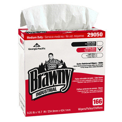 Brawny Four Ply Scrim Paper Wipers in White