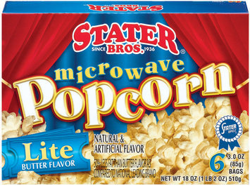 Stater Bros. Lite Butter Microwave Popcorn