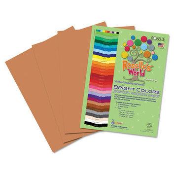 Roselle Paper Co 74701 Premium Sulphite Construction Paper 76 Lbs. 9 X 12 Light Brown 50/pack