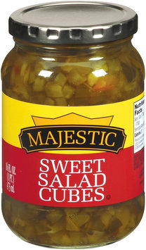 Majestic Sweet Salad Cube Pickles 16 fl. oz.