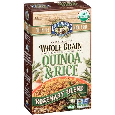 Lundberg Family Farms® Organic Whole Grain Rosemary Blend Quinoa & Rice 6 oz. Box