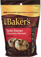 Baker's Semi-Sweet Chocolate Morsels 12 oz. Bag