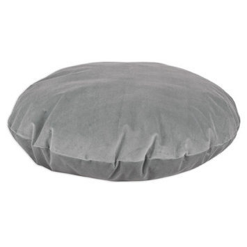 Brite Ideas Living Classic Velvet Round Dog Bed Pillow Color: Smoke, Size: Medium (48