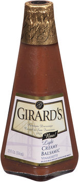 Girard's® Light Creamy Balsamic Vinaigrette 12 fl. oz. Glass Bottle
