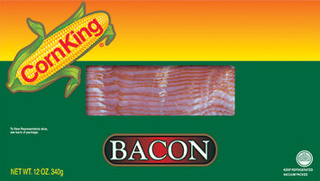 Corn King® Regular Sliced Bacon 12 oz. Package
