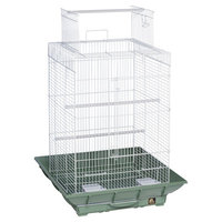 Prevue Clean Life 851 Playtop Bird Cage Grn/Wht