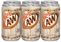 Diet A&W® Root Beer 6-7.5 fl. oz. Cans