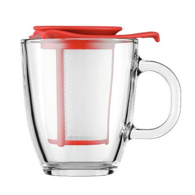 Bodum Yoyo Set Mug and Tea Strainer - Red