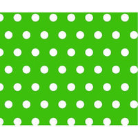Stwd Polka Dots Portable Mini Fitted Crib Sheet Color: Green