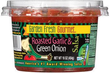 Garden Fresh Gourmet® Roasted Garlic & Green Onion Salsa 16 oz. Plastic Tub