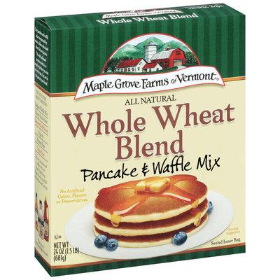 Maple Grove Farms Whole Wheat Blend Pancake & Waffle Mix 24 Oz Box