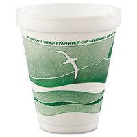Dart Horizon Hot/Cold Foam Drinking Cups, 12oz, Green/White, 25/Bag, 40 Bags/Carton