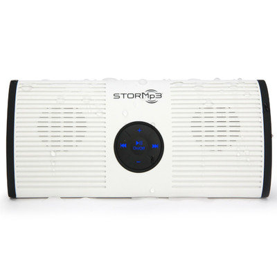 Toilettree Products Water-Resistant Portable MP3 Speaker Color: White