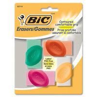 BIC CORPORATION Contoured Comfortable Grip Eraser (Set of 4)